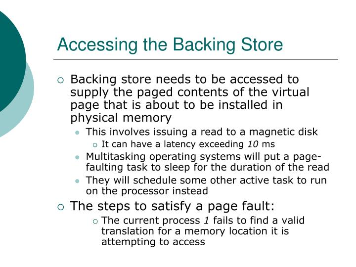 Accessing the Backing Store