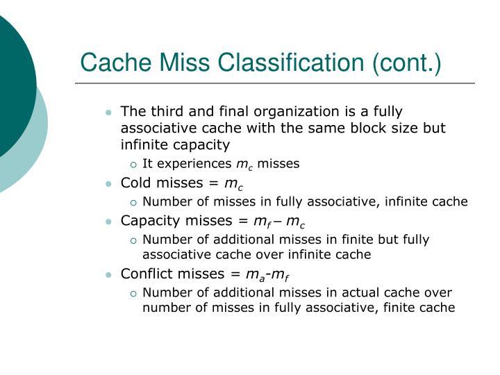 Cache Miss Classification (cont.)