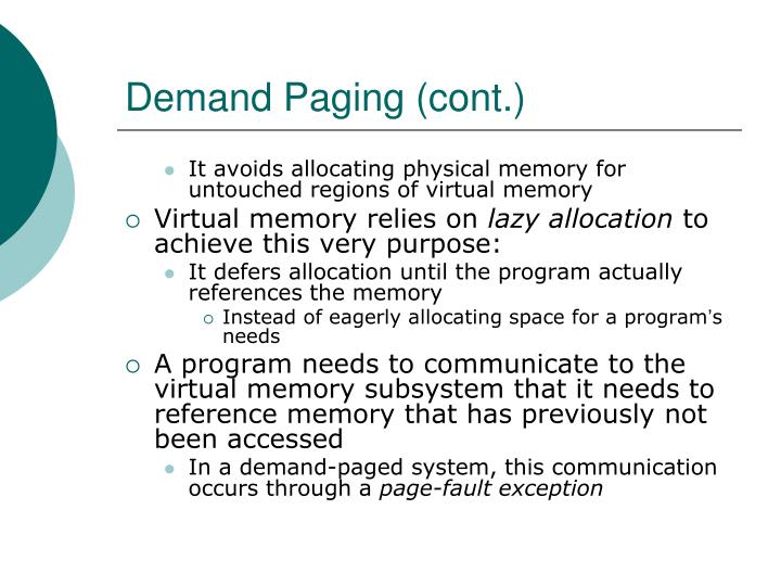 Demand Paging (cont.)