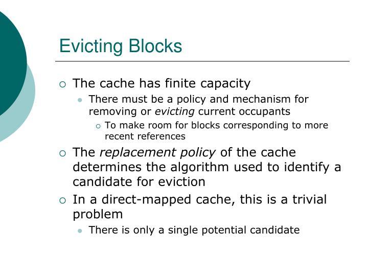 Evicting Blocks