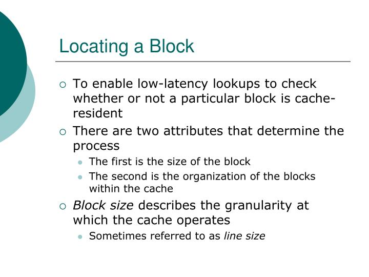 Locating a Block