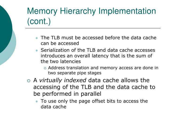 Memory Hierarchy Implementation