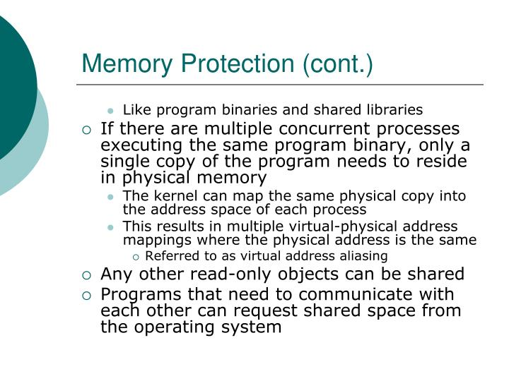 Memory Protection (cont.)