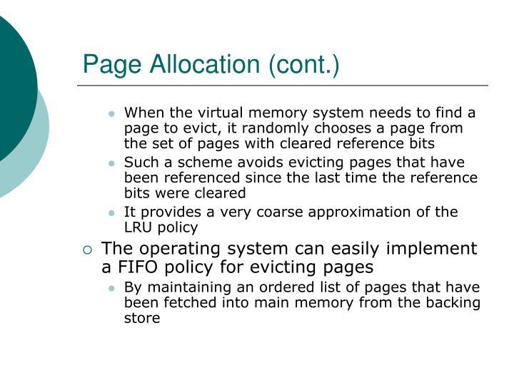 Page Allocation (cont.)