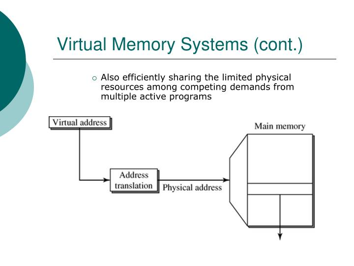 Virtual Memory Systems (cont.)