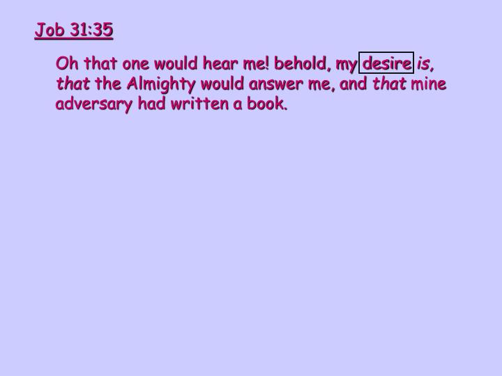 Job 31:35