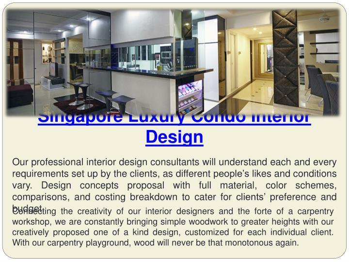 Singapore luxury condo interior design