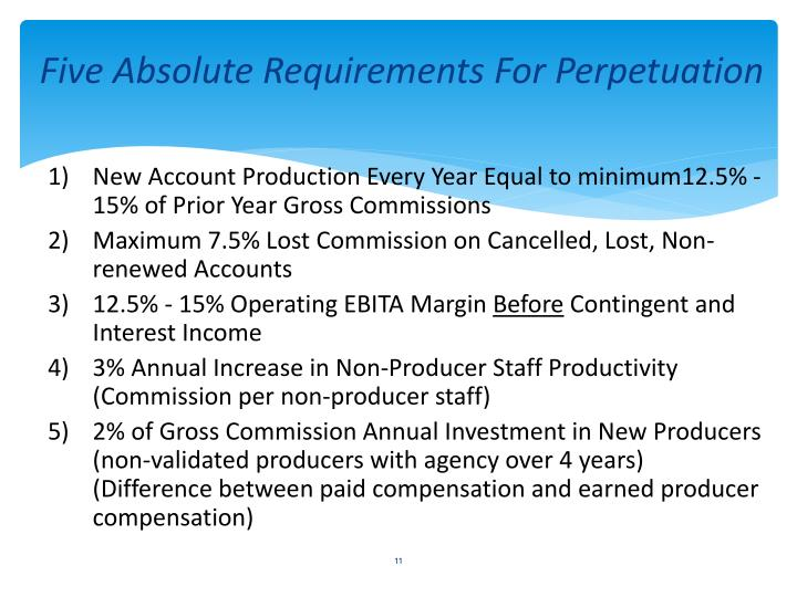 Five Absolute Requirements For Perpetuation