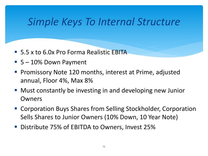 Simple Keys To Internal Structure