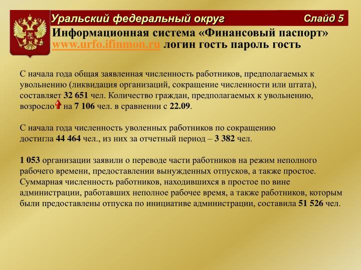 Информационная система «Финансовый паспорт»