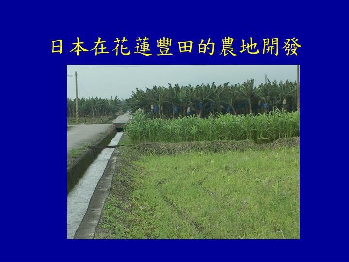 日本在花蓮豐田的農地開發