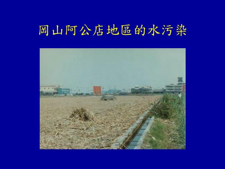 岡山阿公店地區的水污染