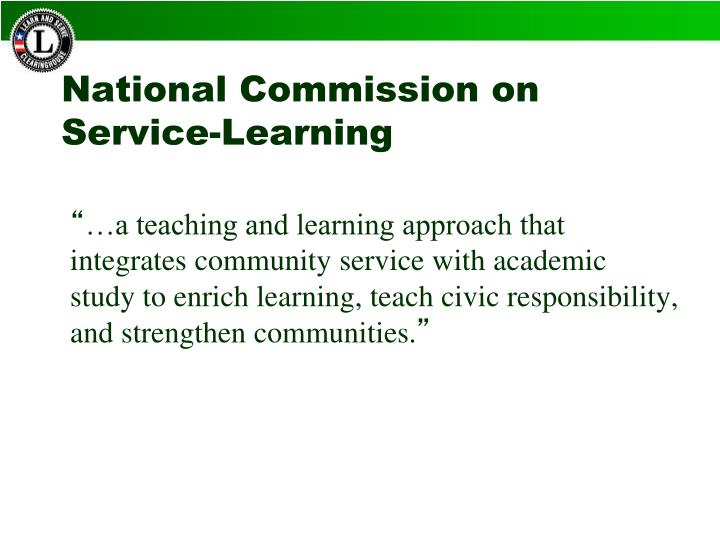 National Commission on Service-Learning
