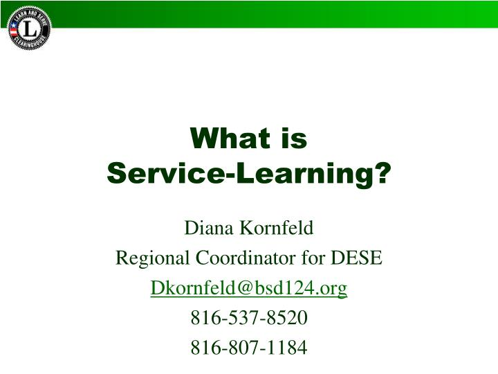 What is service learning