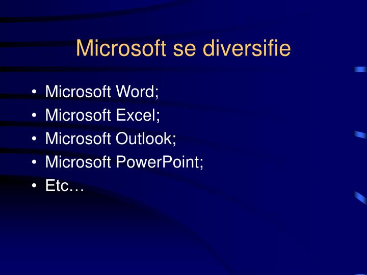 Microsoft se diversifie