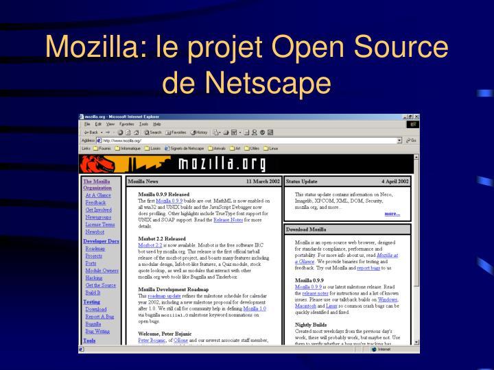 Mozilla: le projet Open Source de Netscape