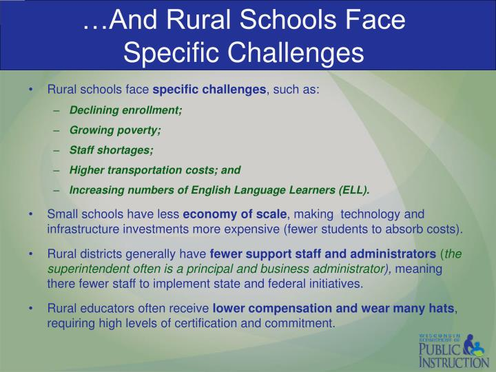 …And Rural Schools Face
