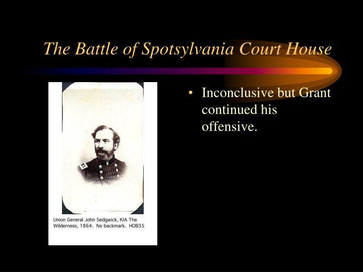 The Battle of Spotsylvania Court House