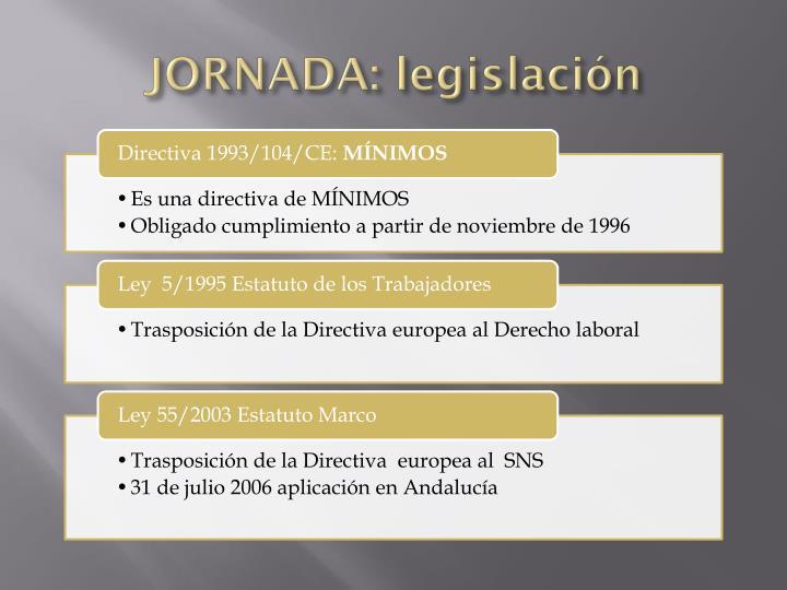 JORNADA: legislación