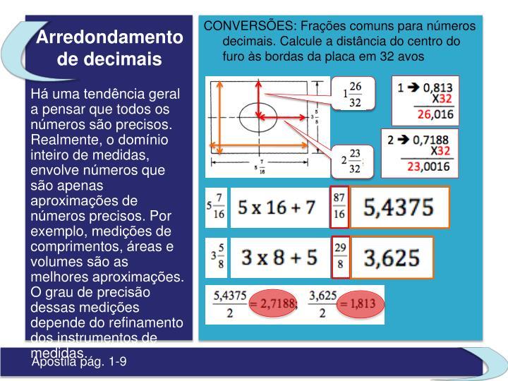 Arredondamento de decimais