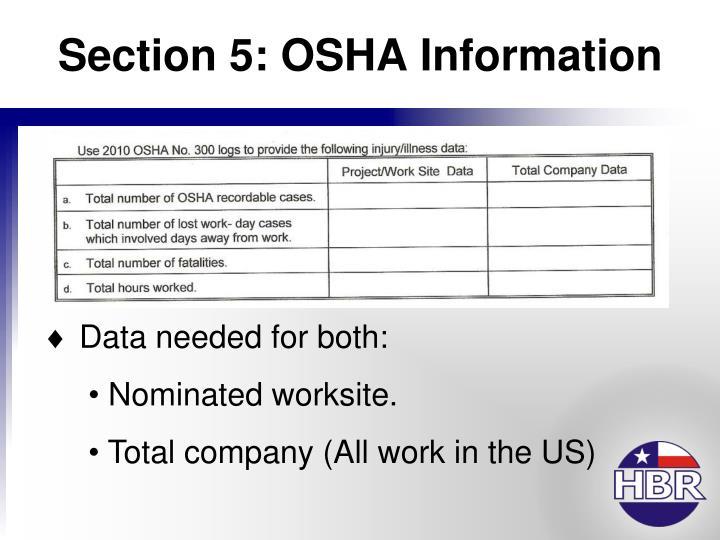 Section 5: OSHA Information