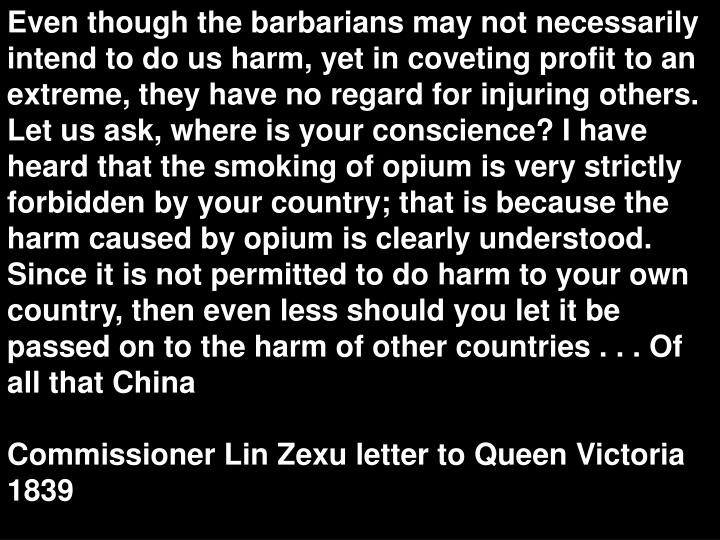 lin zexu letter to queen victoria