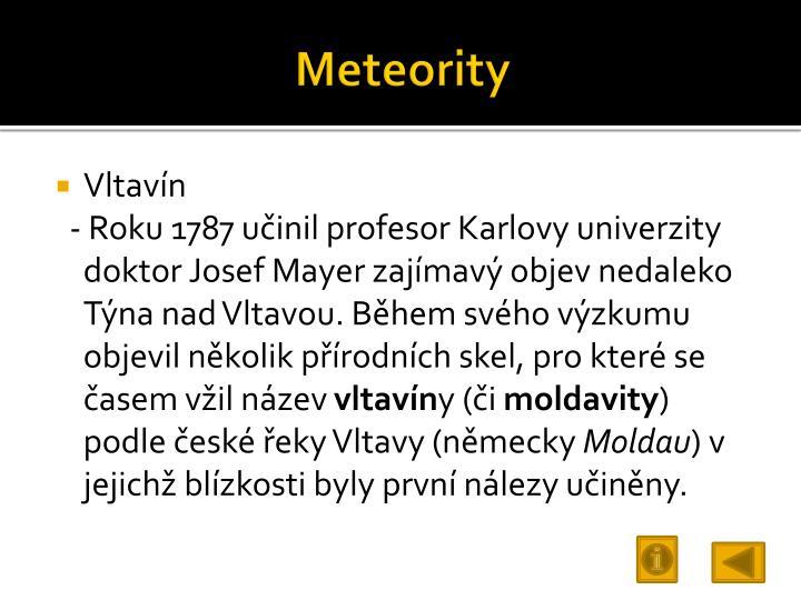 Meteority