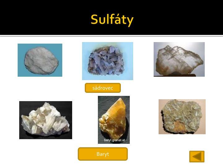 Sulfáty