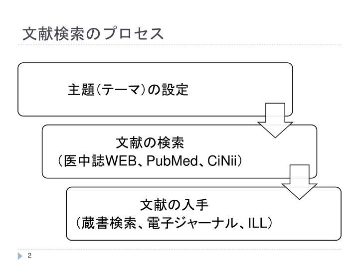 文献検索のプロセス