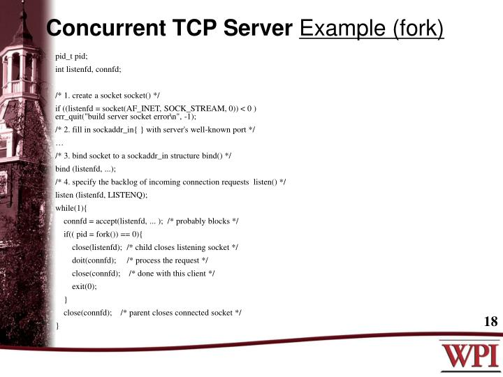 Concurrent TCP Server
