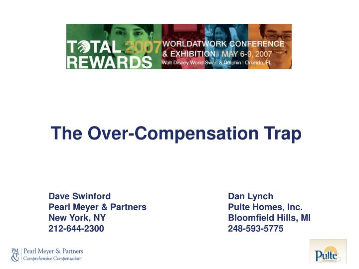 the over compensation trap n.