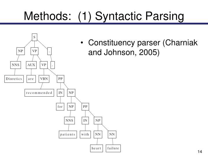 Methods:  (1) Syntactic Parsing