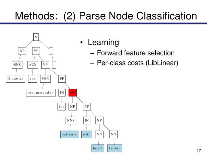 Methods:  (2) Parse