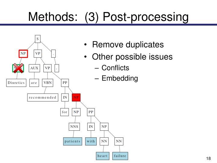 Methods:  (3) Post-processing