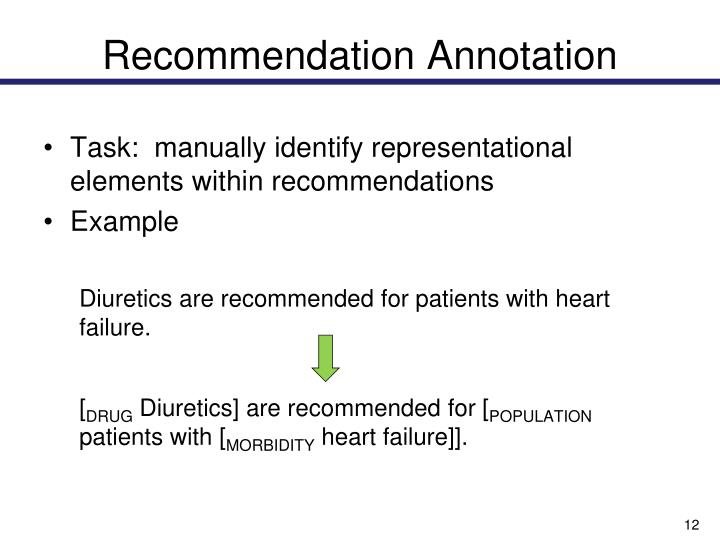 Recommendation Annotation