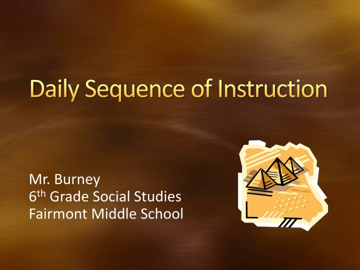 daily sequence of instruction