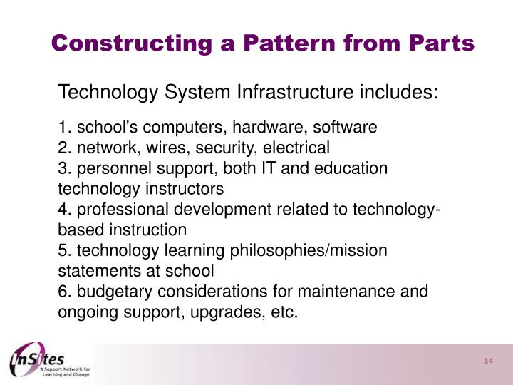 Constructing a Pattern from Parts