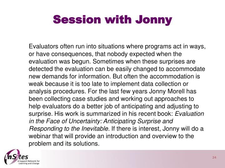 Session with Jonny