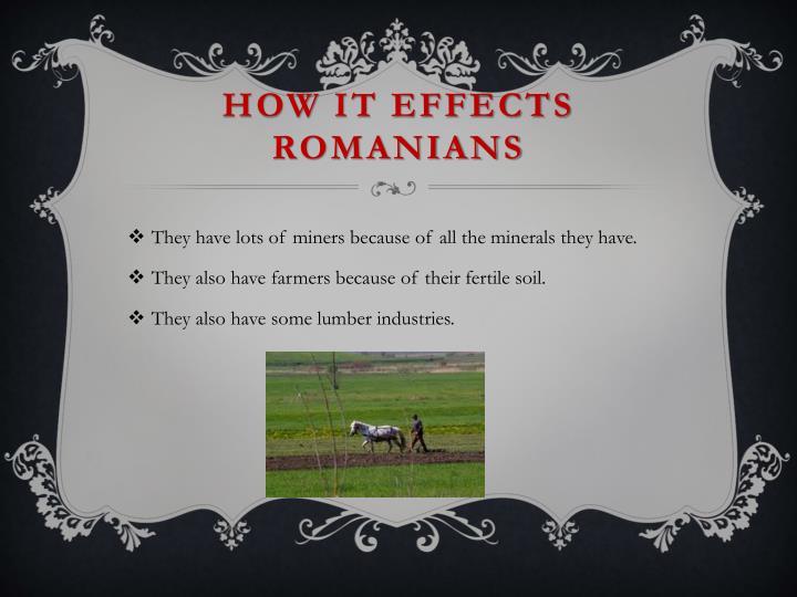 How it effects Romanians