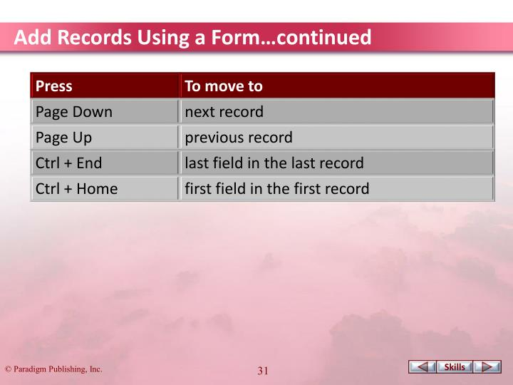 Add Records Using a