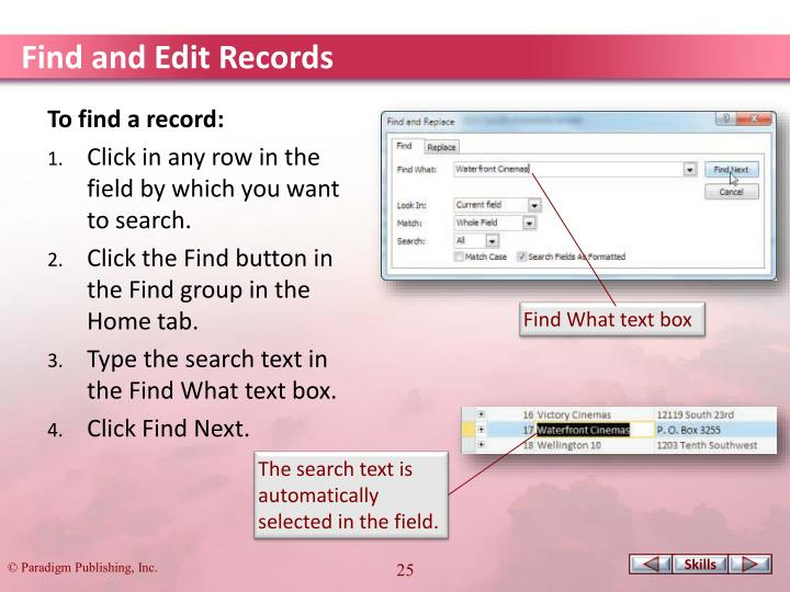 Find and Edit Records