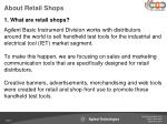 about retail shops
