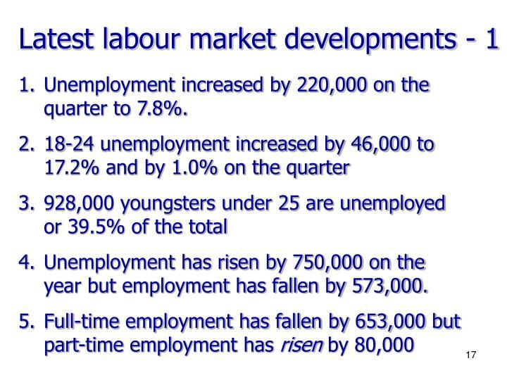 Latest labour market developments - 1