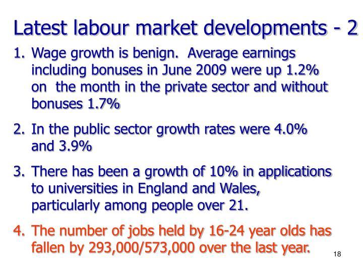 Latest labour market developments - 2
