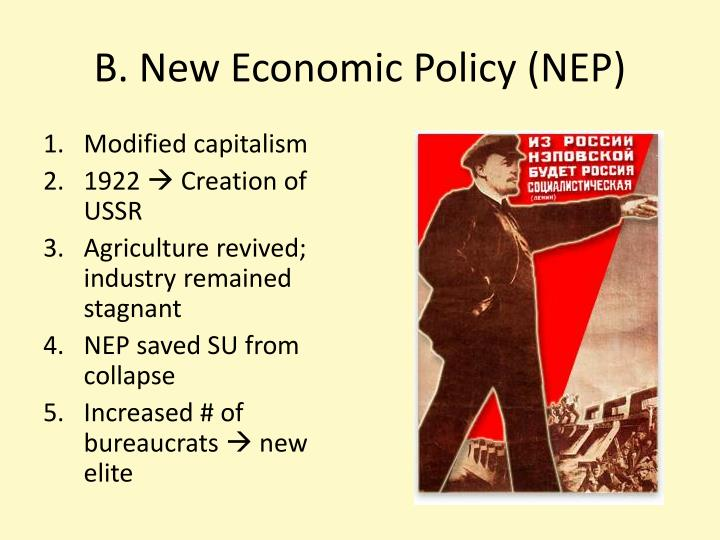 B new economic policy nep