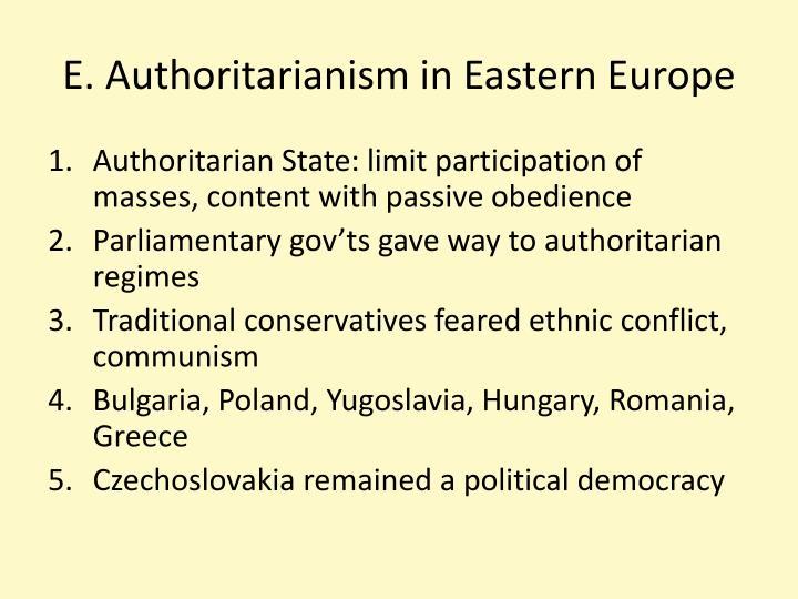 E. Authoritarianism