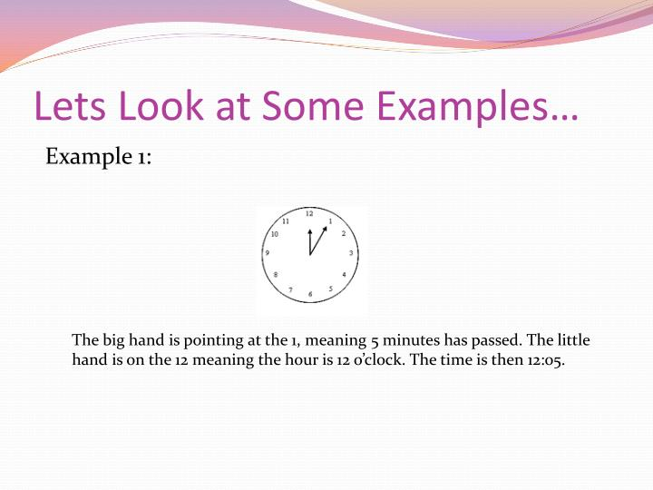 Lets Look at Some Examples…
