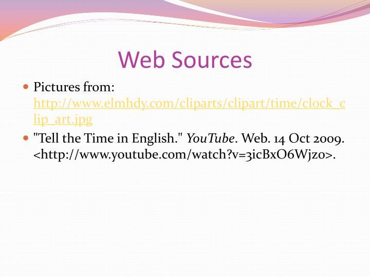 Web Sources