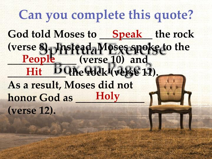 Can you complete this quote?