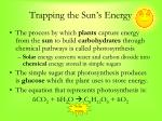 trapping the sun s energy